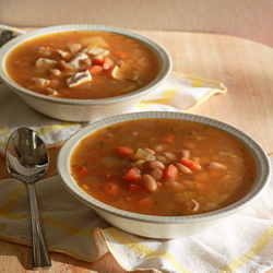 Rosemary White Bean Soup with Optional Chicken