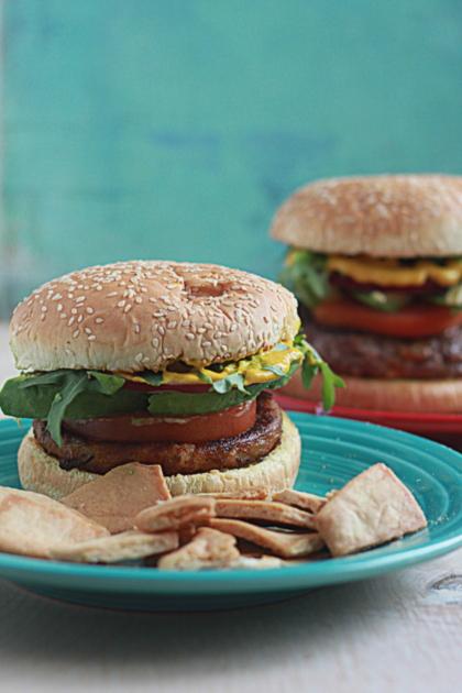 Hamburgers and Veggie Burgers