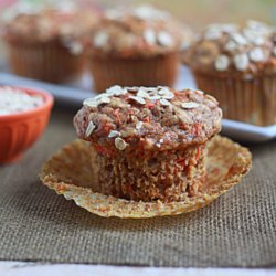 Hearty Spiced Carrot Muffins