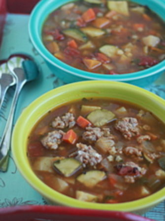 Perfect minestrone (vegetarian, with optional sausage) | Kitchen Treaty