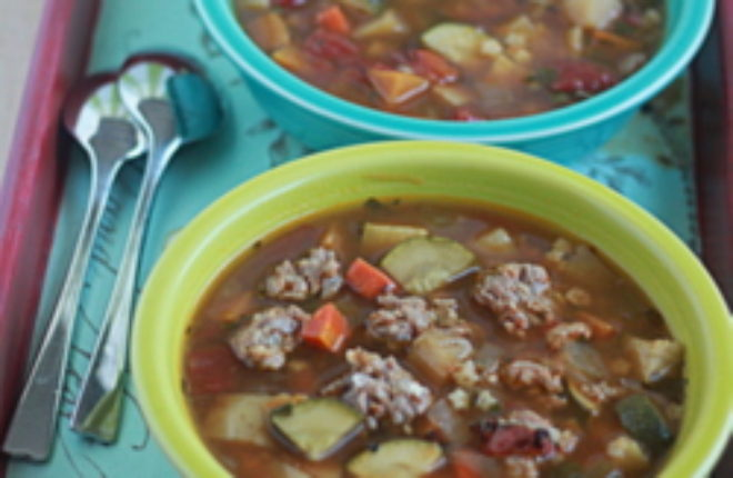 Perfect minestrone (vegetarian, with optional sausage)   Kitchen Treaty