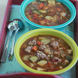 Perfect Vegetarian Minestrone with Optional Sausage