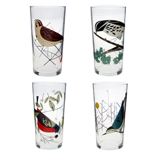 Oldham + Harper Birds Glasses from Fishs Eddy