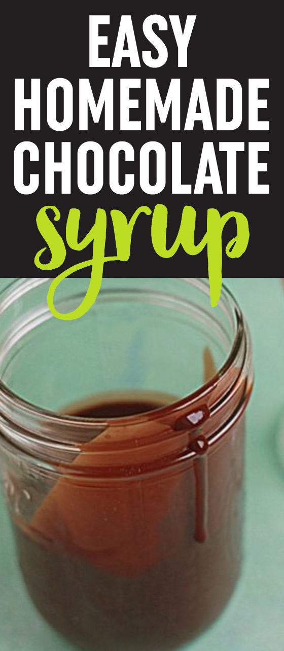 Easy Homemade Chocolate Syrup - costs pennies to make, takes all of 10 minutes to whip up, you know exactly what went into it, and tastes ah-mazing.