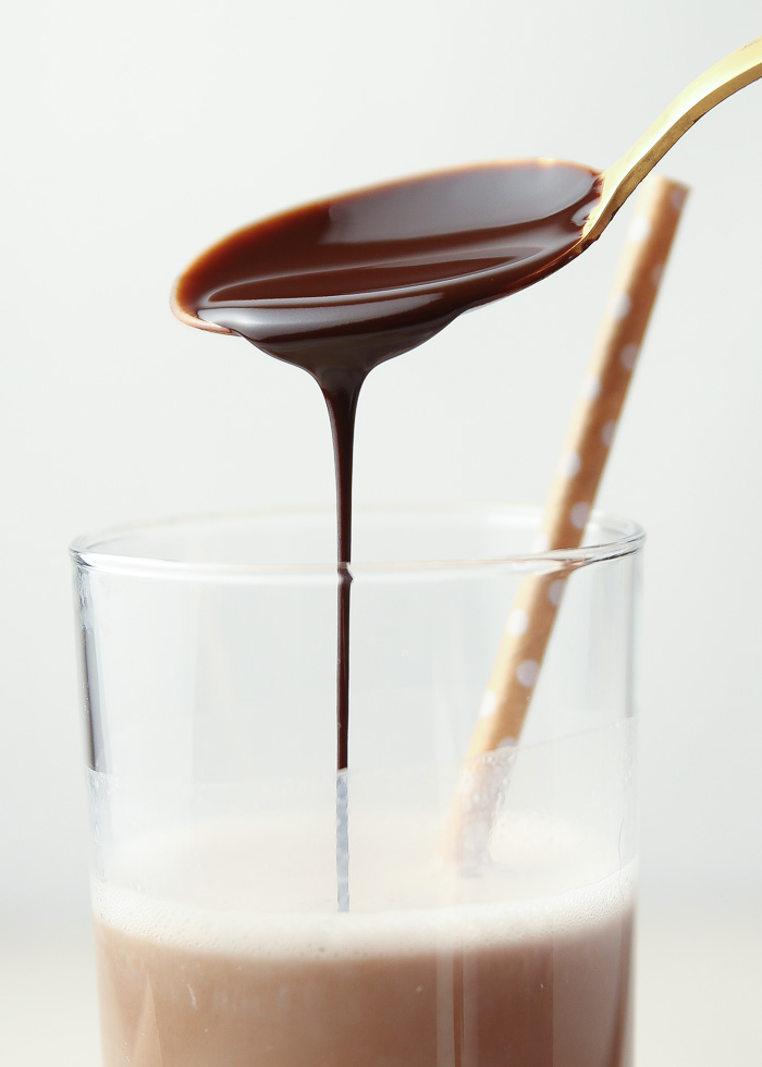 This rich, dark chocolate syrup is better than Hershey's! With just 5 ingredients and 10 minutes, you'll have your own homemade chocolate syrup. Recipe as written makes a nice dark chocolate version; add more sugar for a sweeter sauce.