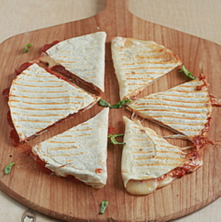 Four-Cheese Pizza Quesadillas with Optional Pepperoni