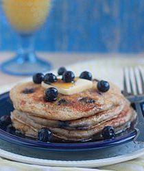 Lemon blueberry yogurt pancakes   Kitchen Treaty
