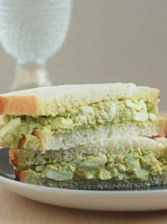 Smashed chickpea guacamole egg salad   Kitchen Treaty