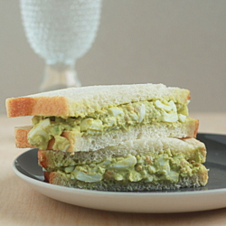 Smashed Chickpea Guacamole Egg Salad
