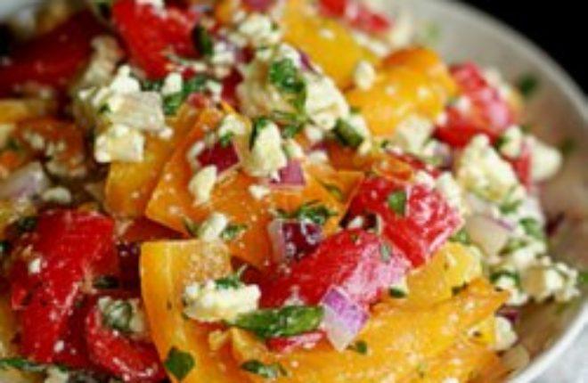 Sq Roasted Pepper and Feta Salad