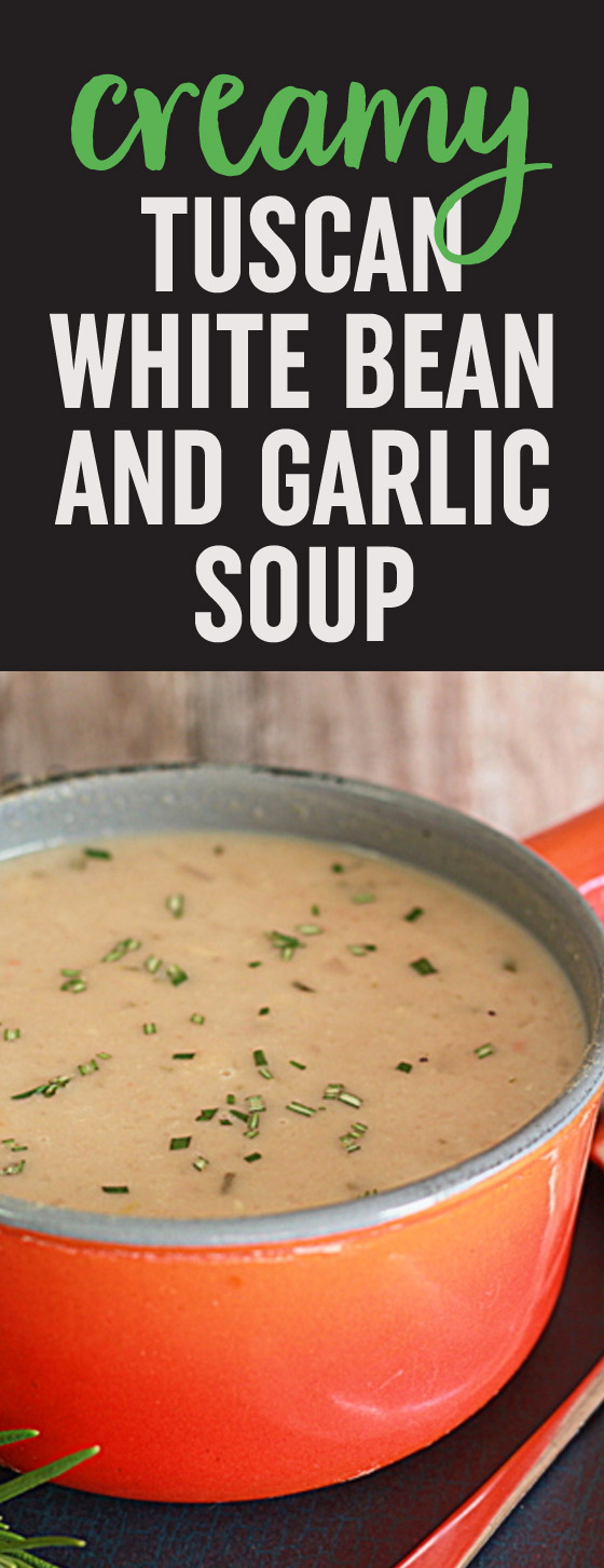 Creamy Tuscan White Bean & Garlic Soup with Rosemary ...