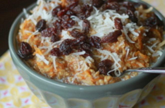 Carrot cake steel-cut oatmeal | Kitchen Treaty