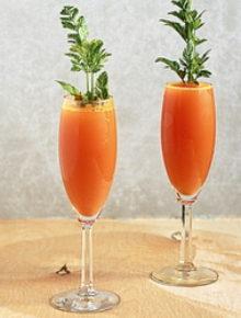 Carrot mimosas | Kitchen Treaty