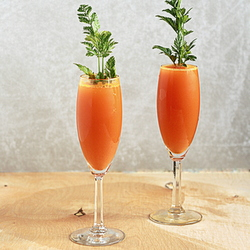 Carrot mimosas | Kitchen Treaty