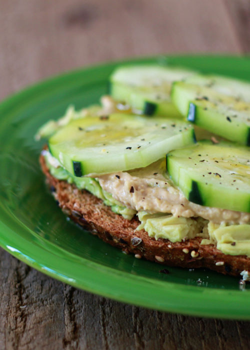 Cucumber Hummus Avocado Toast