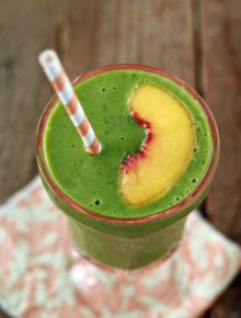 Ginger Peach Green Smoothie