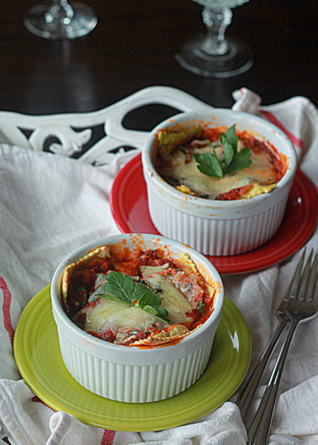 Easy individual ravioli lasagnas | Kitchen Treaty