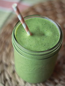 Mango Coconut Green Smoothie