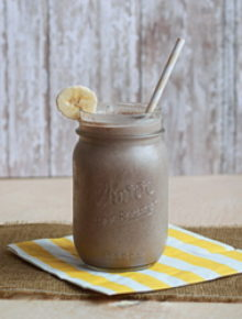 Vegan banana chocolate smoothie | Kitchen Treaty