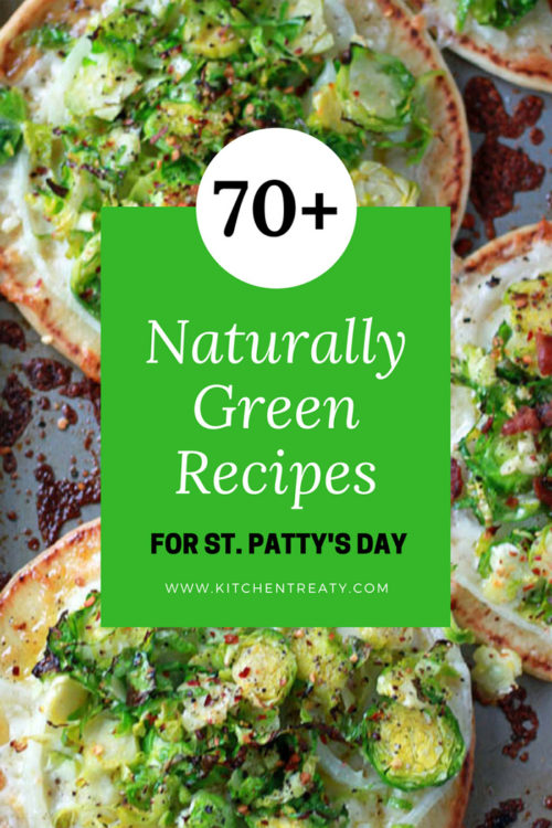 More than 70 Dye-Free Naturally Green Recipes for St. Patrick's Day - no food dyes needed!