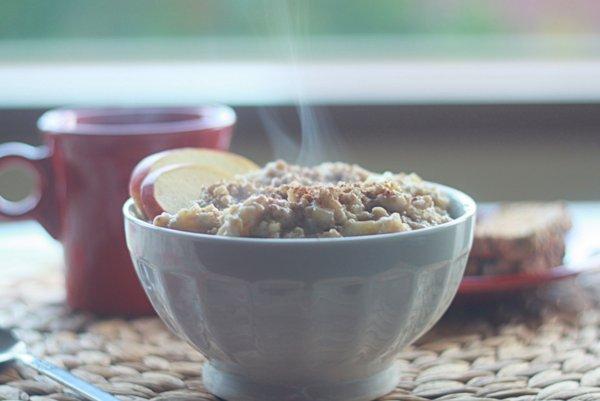 Apple-cinnamon steel cut oatmeal