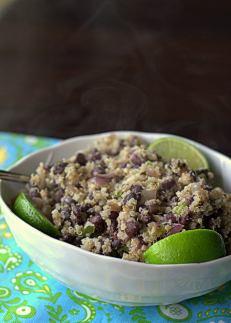 Budget-friendly black beans and quinoa | Kitchen Treaty