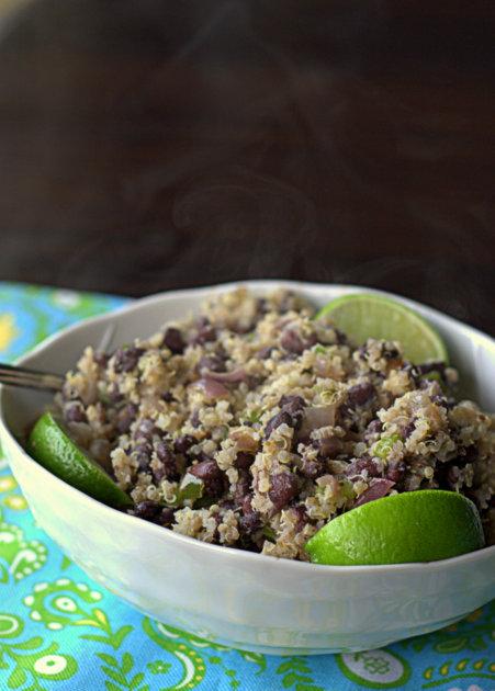 Budget-friendly black beans and quinoa | Kitchen Treaty