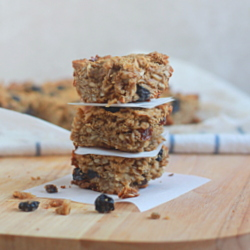 Chewy Blueberry Sunflower Seed Granola Bars
