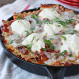Easy Cheesy Veggie Skillet Lasagna Sq 2