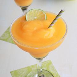Frozen mango lime margaritas | Kitchen Treaty