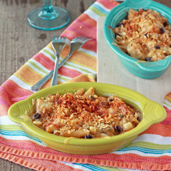 Tex Mex Mac and Cheese with Optional Chicken | Kitchen Treaty
