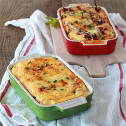 Chiles Rellenos Breakfast Strata with Optional Chorizo