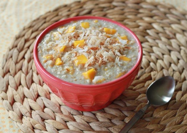 Creamy mango coconut steel-cut oatmeal   Kitchen Treaty
