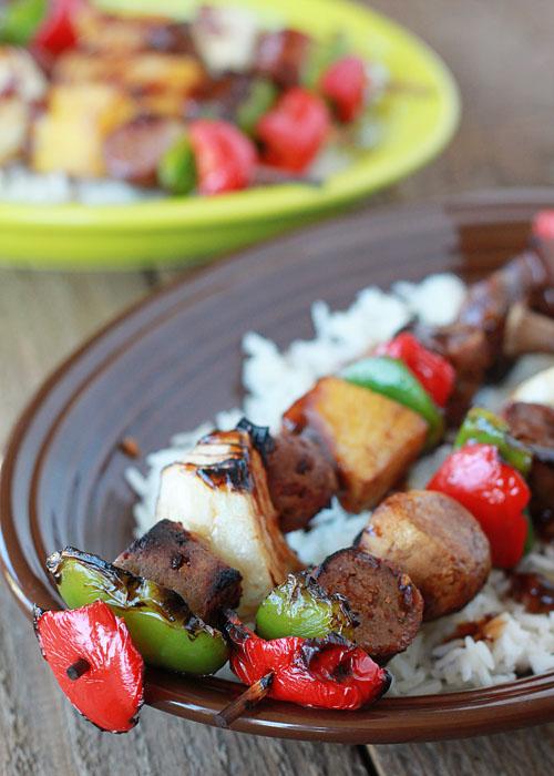 Hawaiian teriyaki shish kabobs two ways | Kitchen Treaty