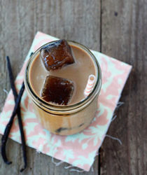 Maple vanilla iced coffee | Kitchen Treaty