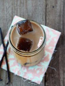 Maple vanilla iced coffee   Kitchen Treaty