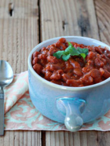 Crock Pot Coconut Curry Baked Beans (vegetarian) | Kitchen Treaty