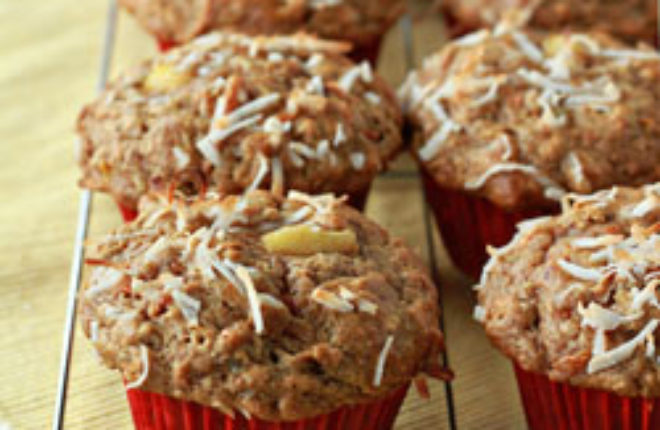 Good morning sunshine muffins (Carrot, coconut, and pineapple muffins) | Kitchen Treaty
