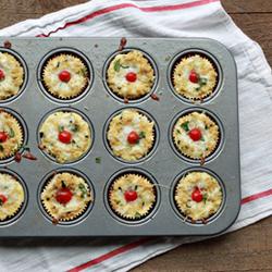 Mini Margherita Quinoa Frittatas (with Cherry Tomatoes, Fresh Basil, and Mozzarella) | Kitchen Treaty