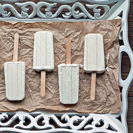 Skinny Vanilla Bean Cheesecake Popsicles