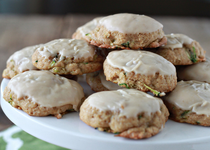 Iced Brown Sugar Zucchini Cookies   Kitchen Treaty