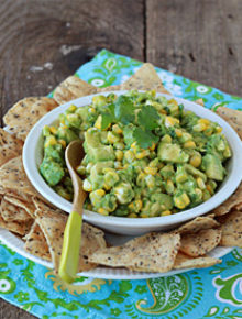 Sweet Corn Guacamole | Kitchen Treaty
