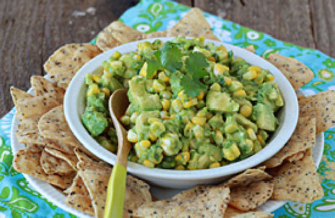 Sweet Corn Guacamole | Kitchen Treaty