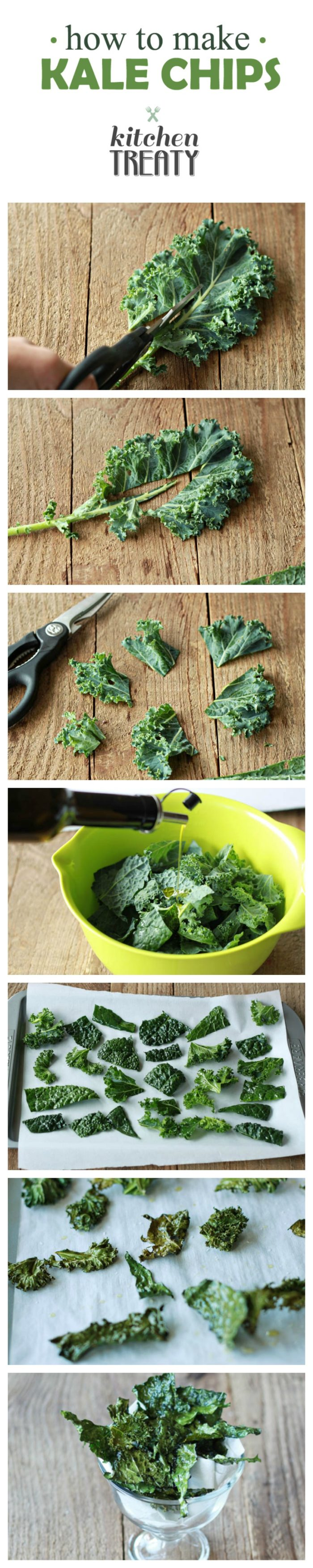 How to Make Kale Chips - Salty, crispy, addicting, and from garden to oven in 15 minutes ... making your own kale chips couldn't be easier.