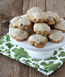 Iced Brown Sugar Zucchini Cookies | Kitchen Treaty