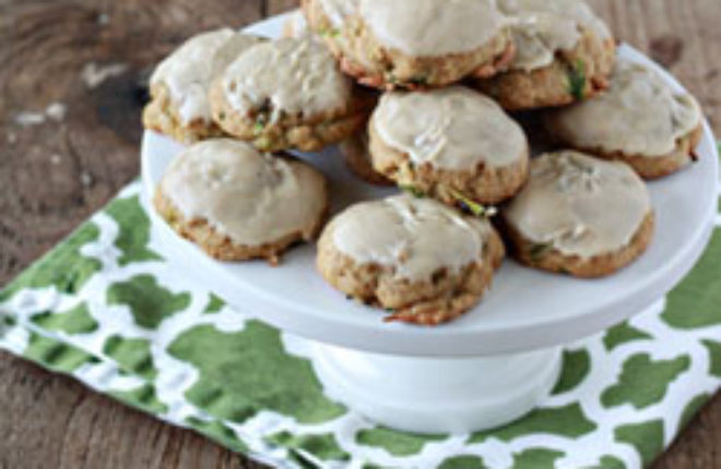 Iced Brown Sugar Zucchini Cookies | Kitchen Treaty
