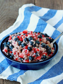 Red White and Blue Quinoa Berry Salad Square