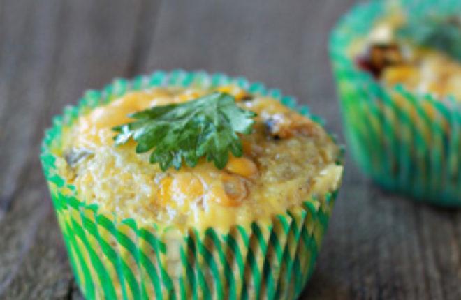 Cheddar Corn Quinoa Mini Frittatas with Optional Bacon   Kitchen Treaty