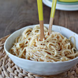 Easy Brown Butter Parmesan Spaghetti Square