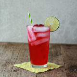 Iced Raspberry Green Tea Limeade | Kitchen Treaty